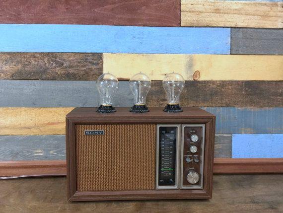 Vintage Radio Lamp Antique Radio Table Lamp Desk Lamp Upcycled Lighting Repurposed Retro Radio Vintage Radio Antique Radio Vintage Lamps Vintage Radio