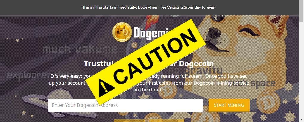 CAUTION Dogeminercc Minar Dogecoin Con Cloud Mining