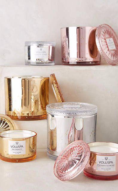 Anthropologie Voluspa Glass Maison Candle Incognito S Candles Duftkerzen Kerzen Geschenkideen Fur Frauen