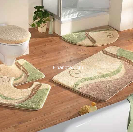أجمل أطقم فرش حمامات صغيرة 2015 Bathroom Rugs And Mats Big Bathroom Rugs Luxury Bathroom Rug