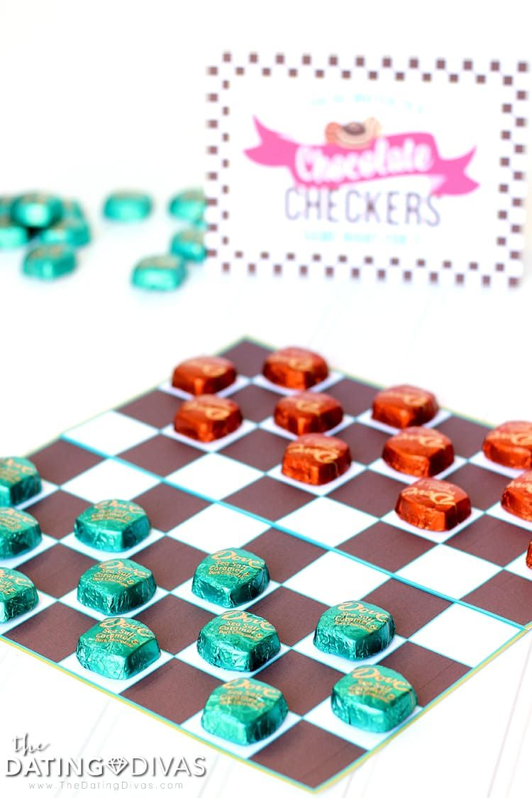 Chocolate Checkers Chocolate Party Dating Divas Board Game Party