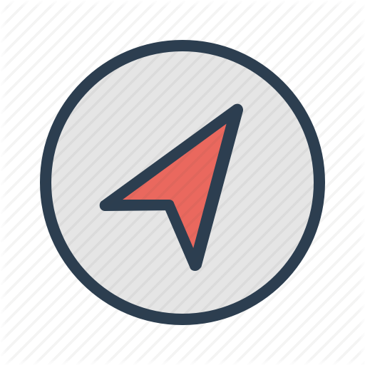 Arrow Compass Direction Navigation Icon Download On Iconfinder Gps Map Icon Navigation Map