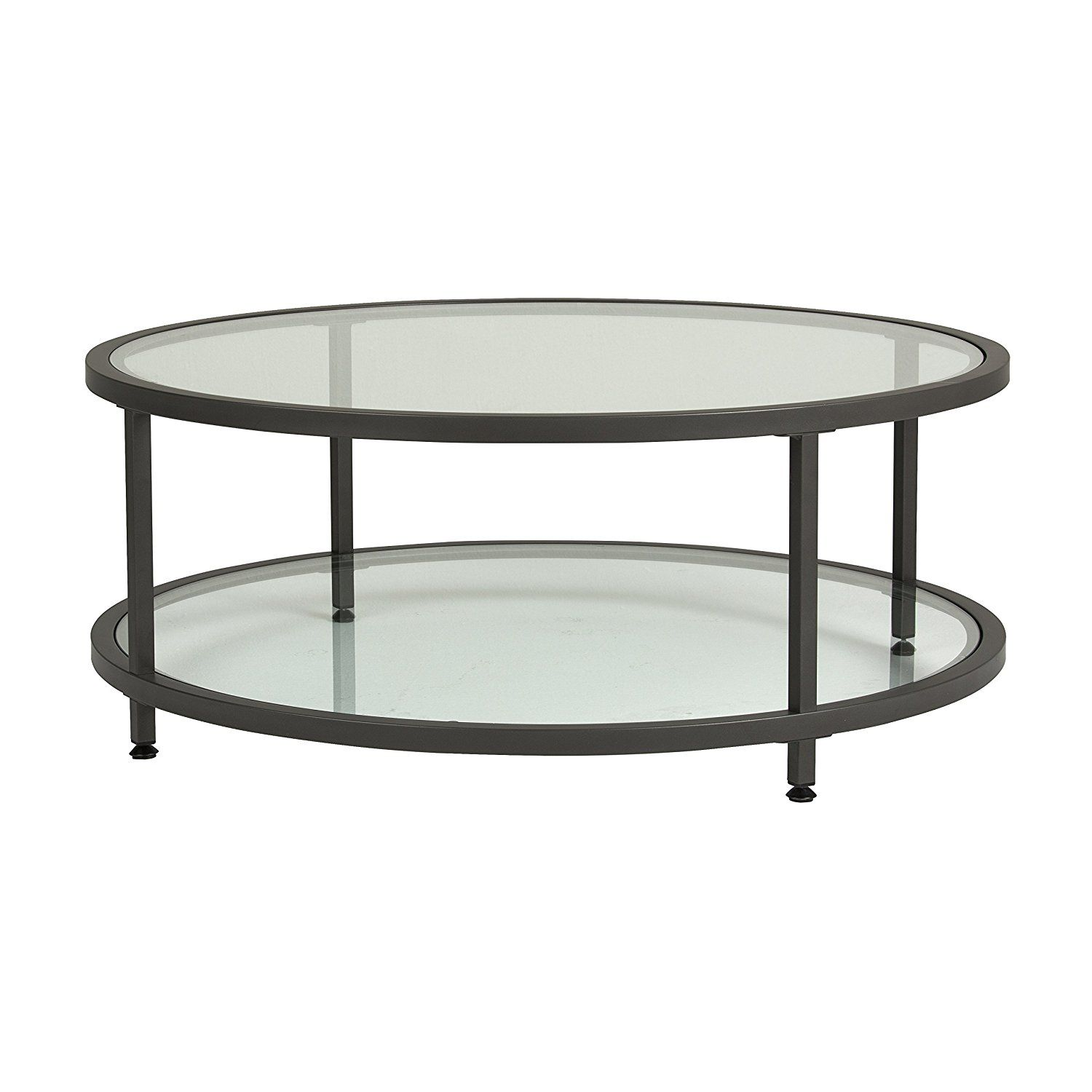 Amazon Com Studio Designs Home 71003 0 Camber Round Coffee Table In Pewter With Clear Glass Kitchen Coffee Table Coffee Table Metal Frame Round Coffee Table [ 1500 x 1500 Pixel ]
