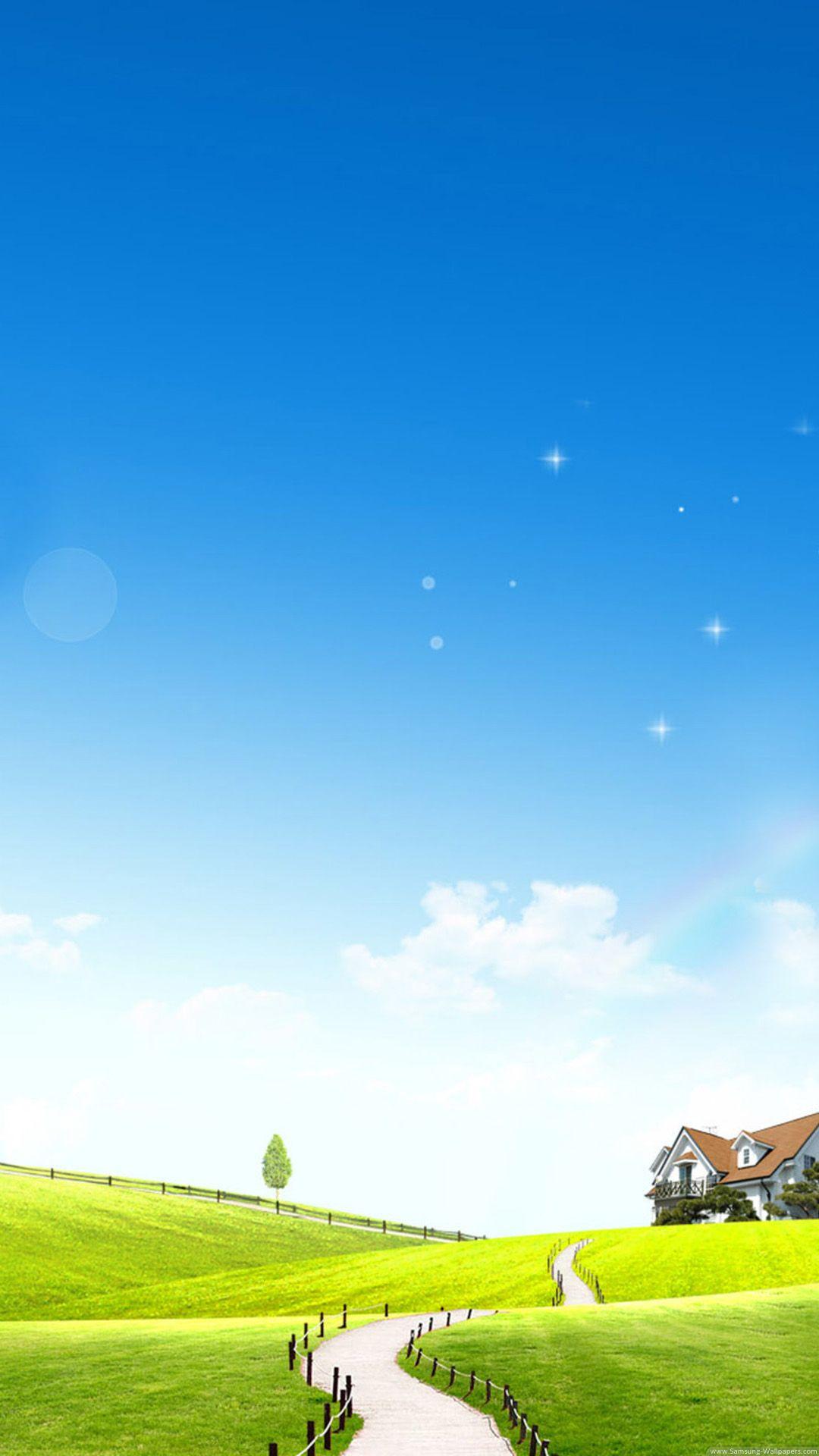 暖かな風景 スマホ壁紙 壁紙