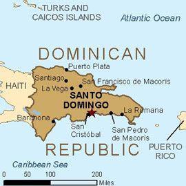 The capital of The Dominican Republic is Santo Domingo  La