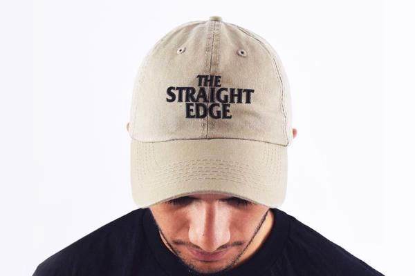 The Straight Edge Dad Hat in Stone from the STRAIGHTEDGEWORLDWIDE Store 0d822ee38a6