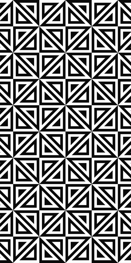 Seamless Monochrome Triangle Pattern Design With Images