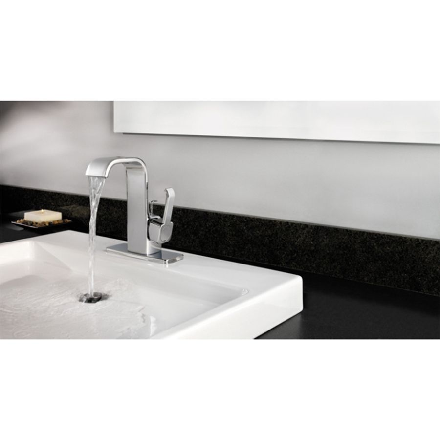 Shop Pfister Skye Chrome 1-Handle 4-in Centerset WaterSense Bathroom Faucet (Drain Included) at Lowes.com