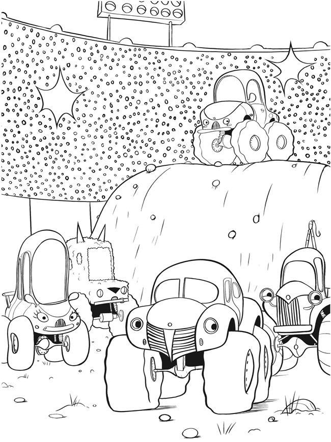 Simple Monster Truck Coloring Book 66 Monster Trucks Coloring Book