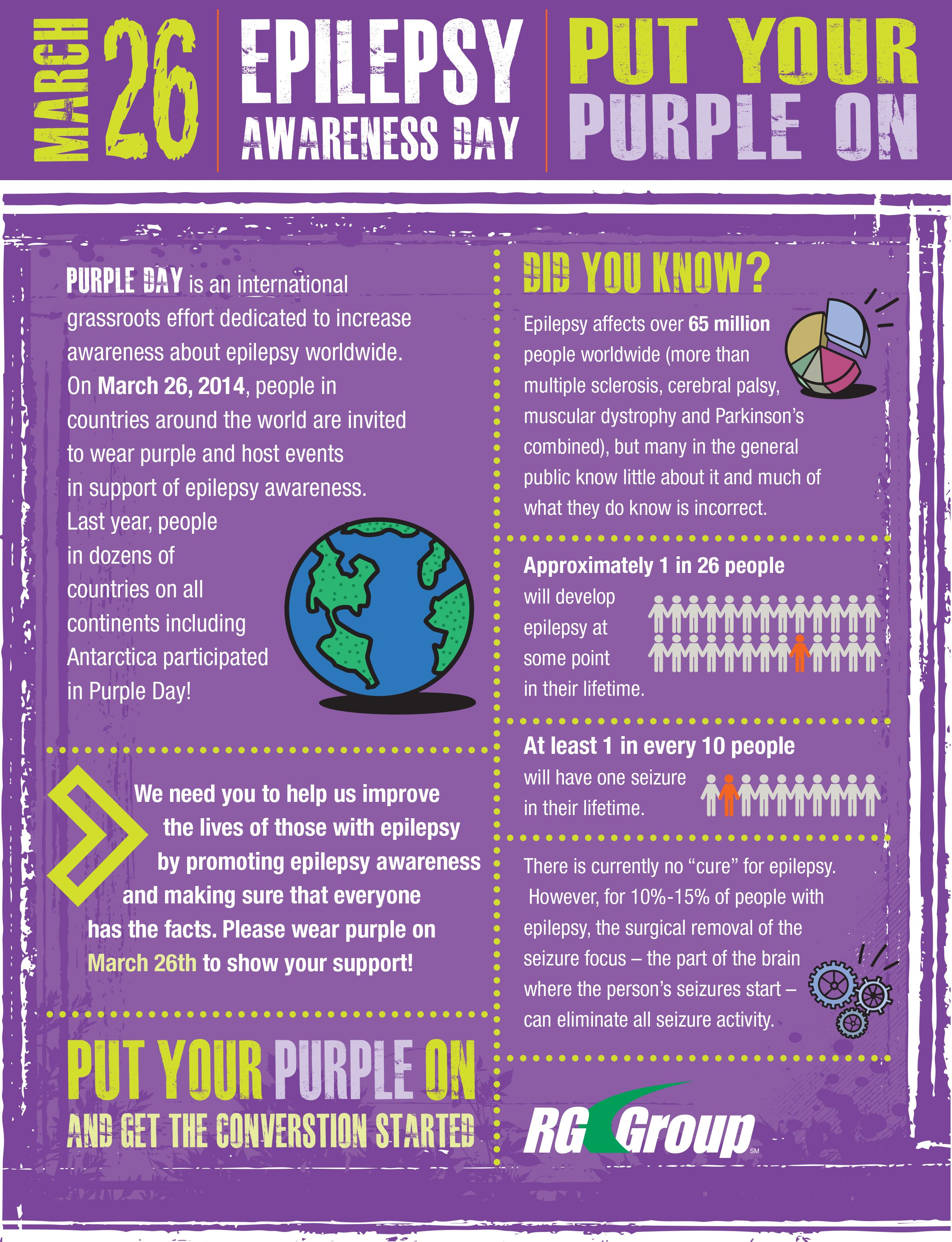 Please support Purple Day for Epilepsy Awareness with us