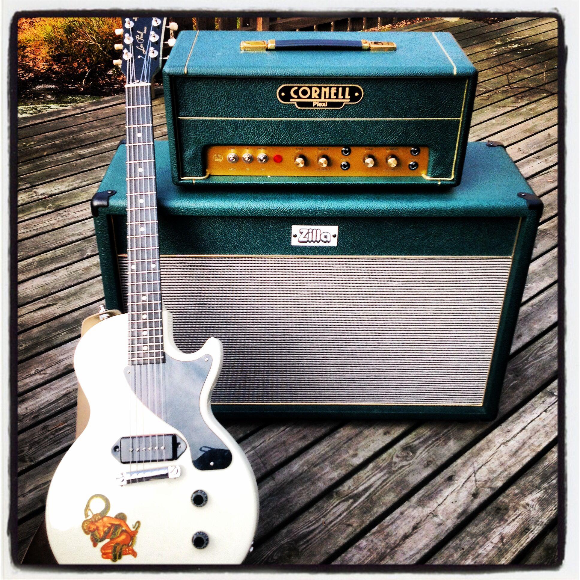 My setup! Les Paul Jr with Seymour Duncan P90. Cornell 18/20 Plexi ...