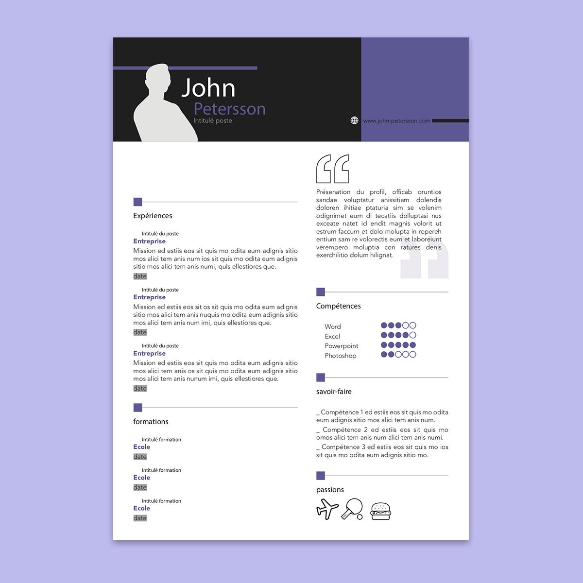 Modèle de CV à télécharger et personnaliser : le CV ...