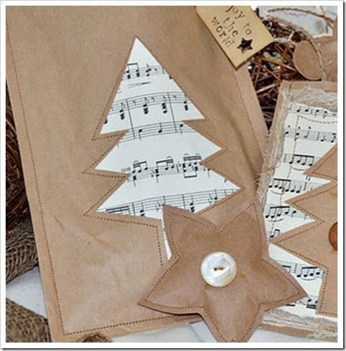 Brown Paper Bags Sewn Into Decorations Or Gift Bags Brown Bags