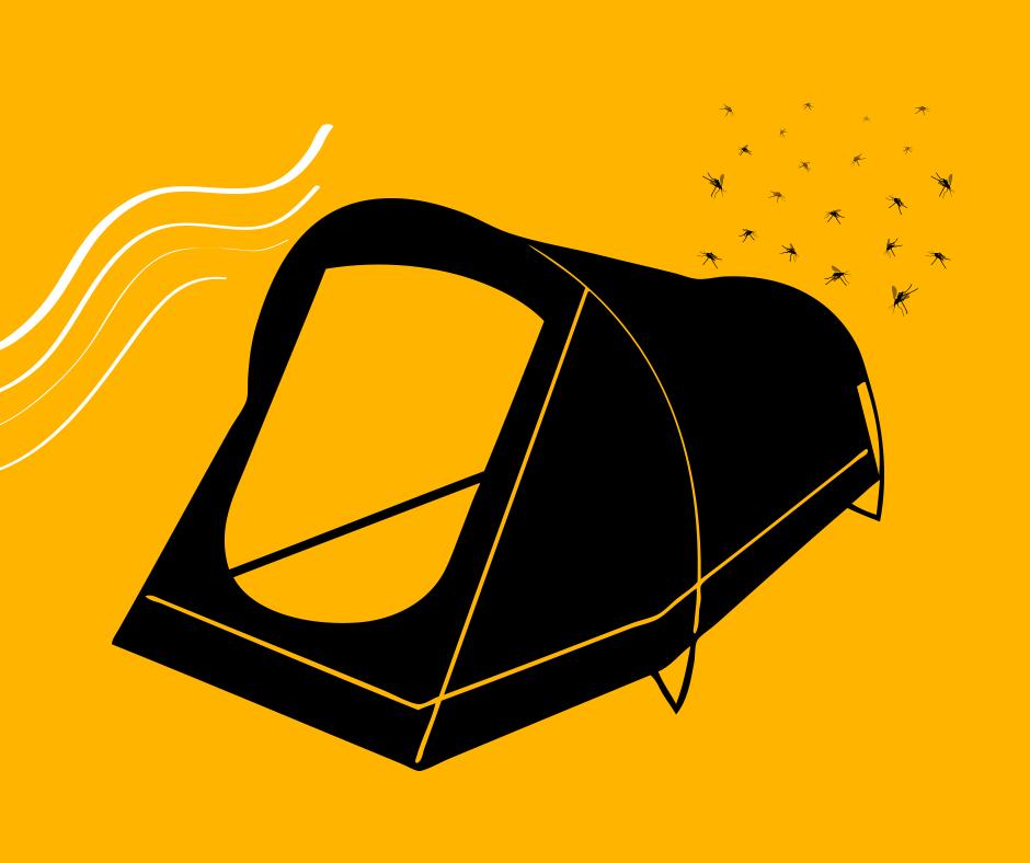 Mücken beim Zelten? Geht gar nicht! Deshalb unser Tipp: Der Zelteingang sollte immer in Windrichtung liegen. Mücken suchen dann hinter dem Zelt Schutz vor dem Wind und schwirren euch nicht so schnell in die Bude. #releasetherenegade http://releasetherenegade.de/