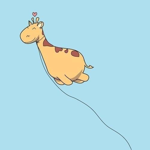 beautiful, cute, giraffe, illustration, wallpaper