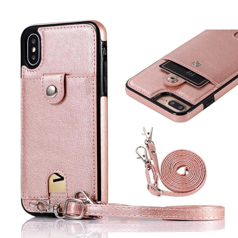 Fashion slimline leather wallet case for iphone xs max x