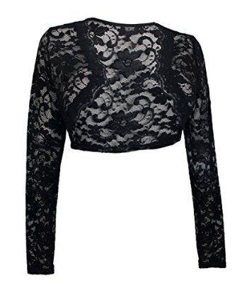 cropped black lace bolero shrug | Wild West Costumes | Pinterest ...