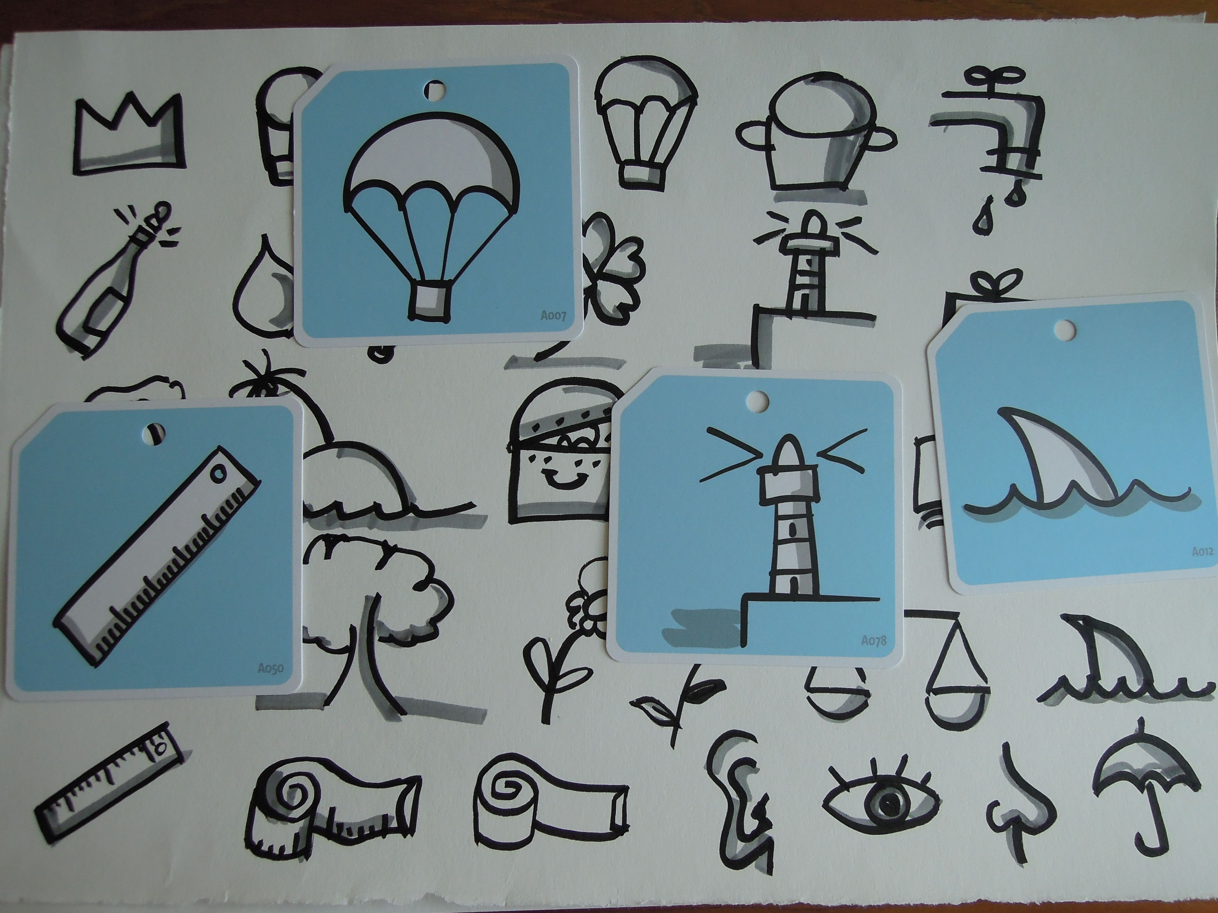 Bikablo Icons : Symbols 작성 예시 - drawing