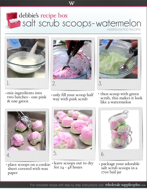 Wholesale Supplies Plus: New Recipe: Salt Scrub Scoops