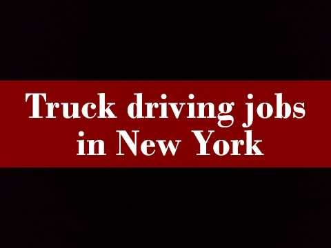 Driving Jobs Nyc >> Truck Driving Jobs In New York Driving Jobs Truck Driving