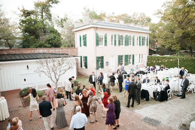 Edison String Lighting A Summer Wedding Reception Bellamy Mansion Wilmington Nc Provides Beautiful Vintage Look By Upligh