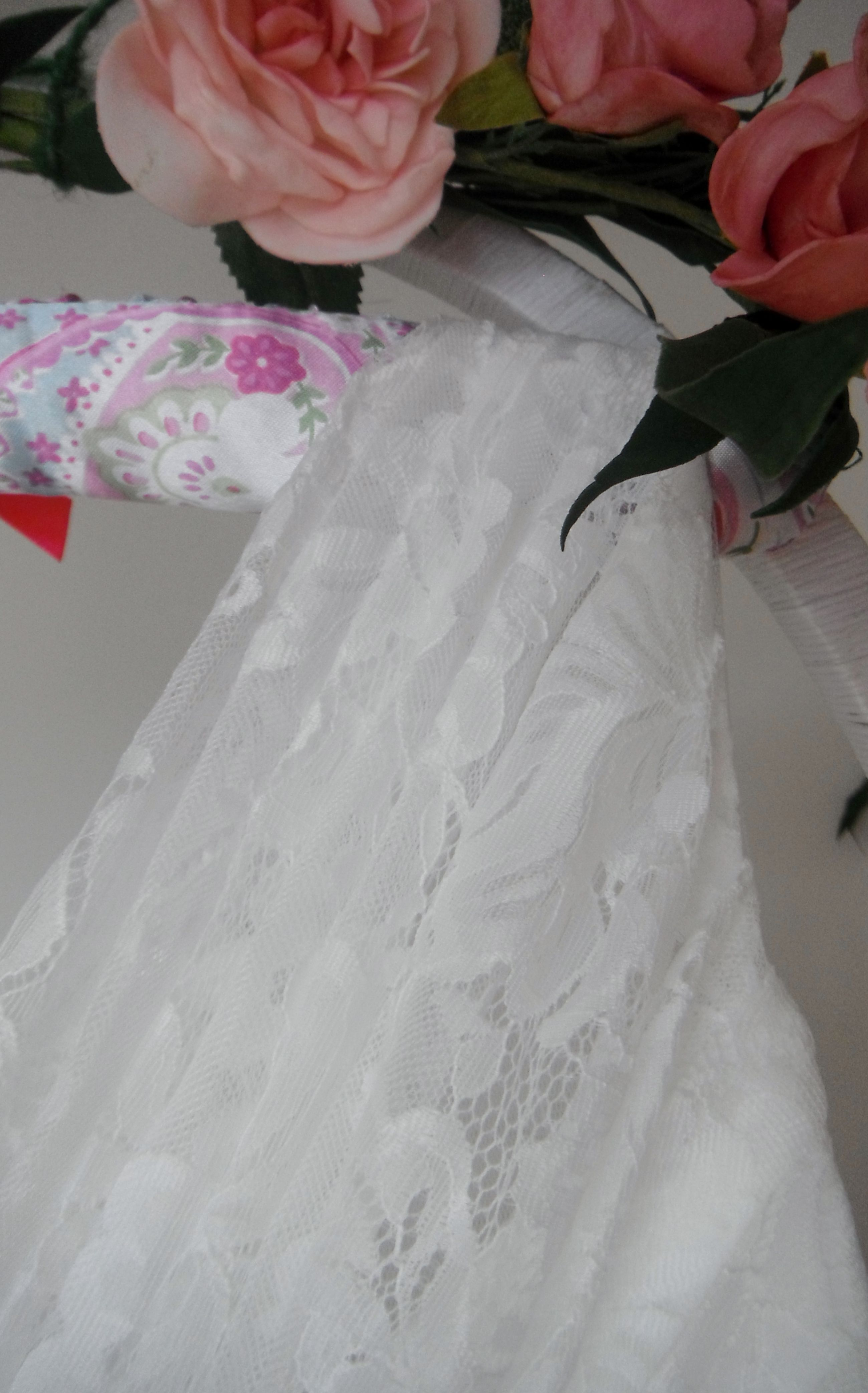 A Beautiful 50s Vintage Style Wedding Dress There Is Extensive Pleating To The Lace Overlay