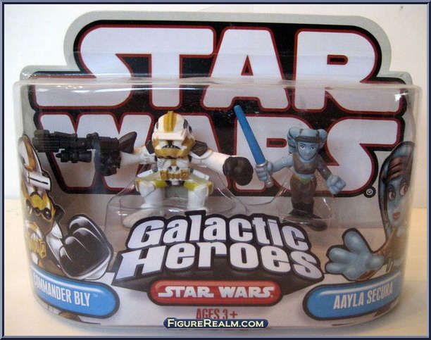 Star Wars Galactic Heroes Clone Wars Commander Bly From Aayla Secura 2 Pack
