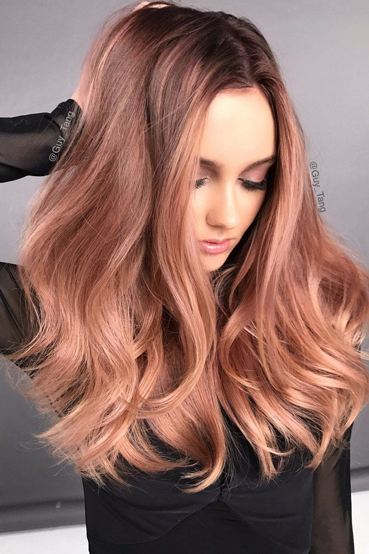 How To Try The Rose Gold Hair Color Trend Without Bleaching Your Whole Head