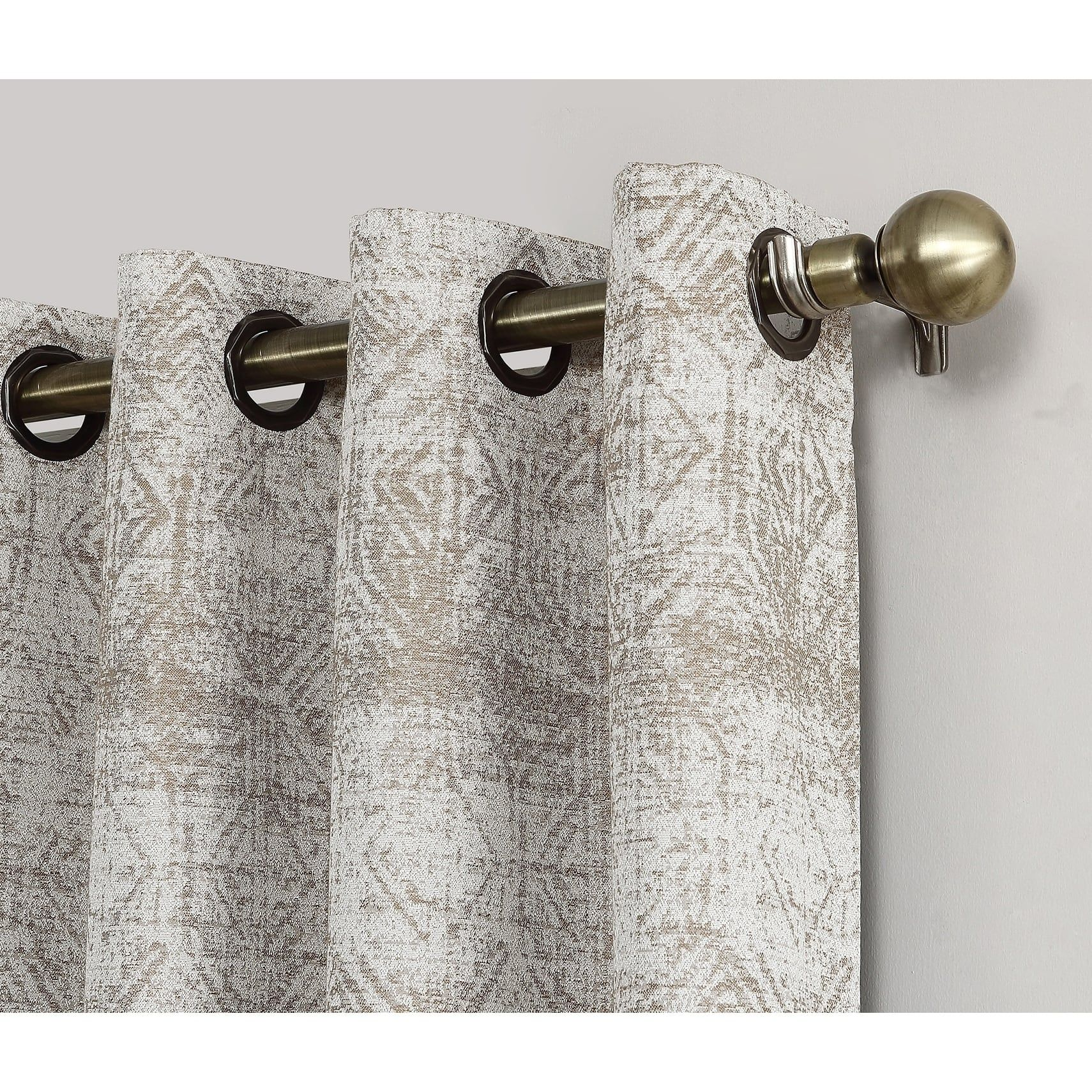 Sun Zero Distressed Global Blackout Lined Grommet Curtain