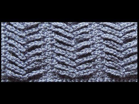 Crochet : Punto Espiga | cuellos. | Pinterest | Espiga, Puntadas y ...