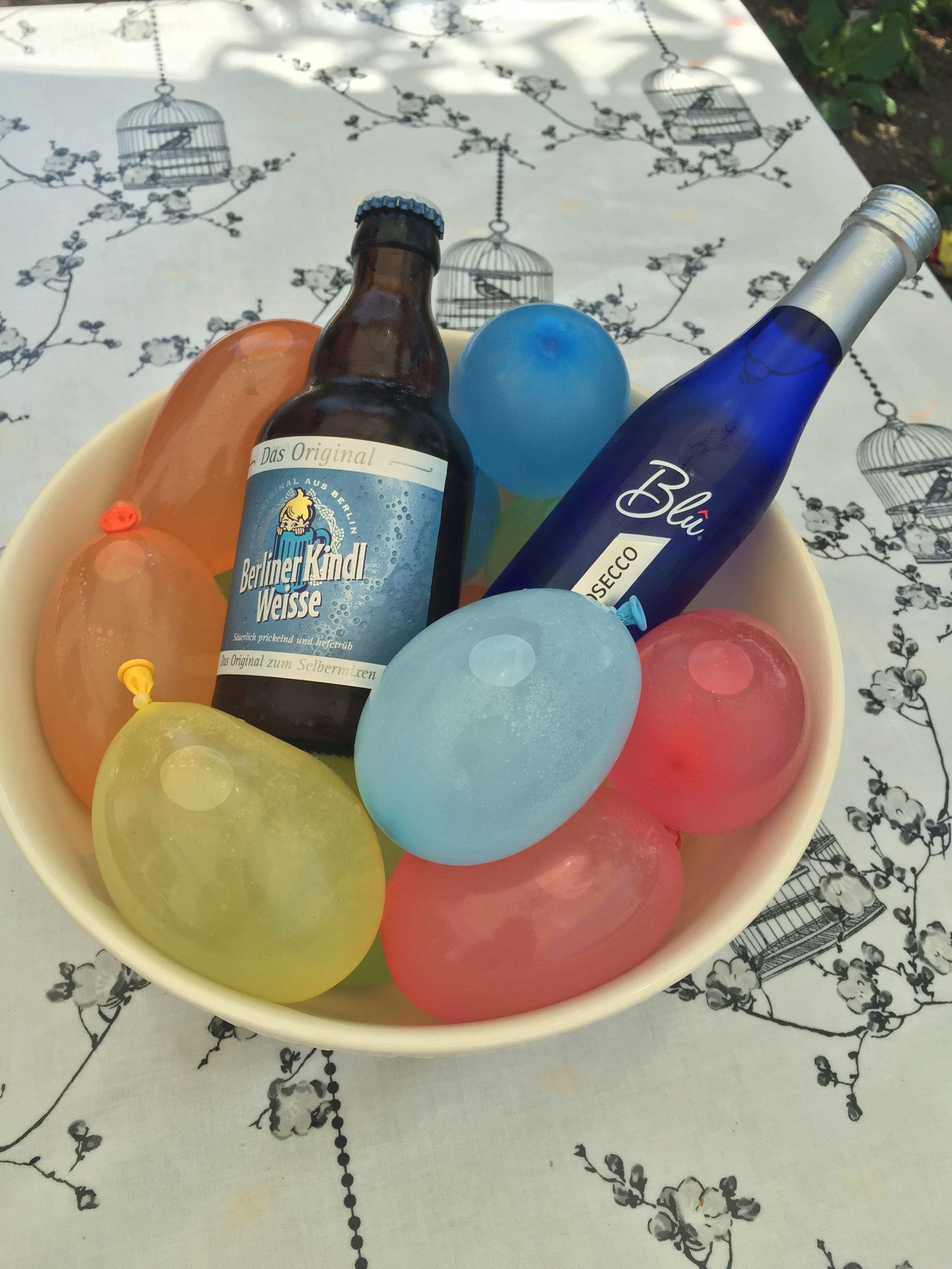 Wasserbomben zum Kühlen von Getränken | Sommer | Pinterest ...