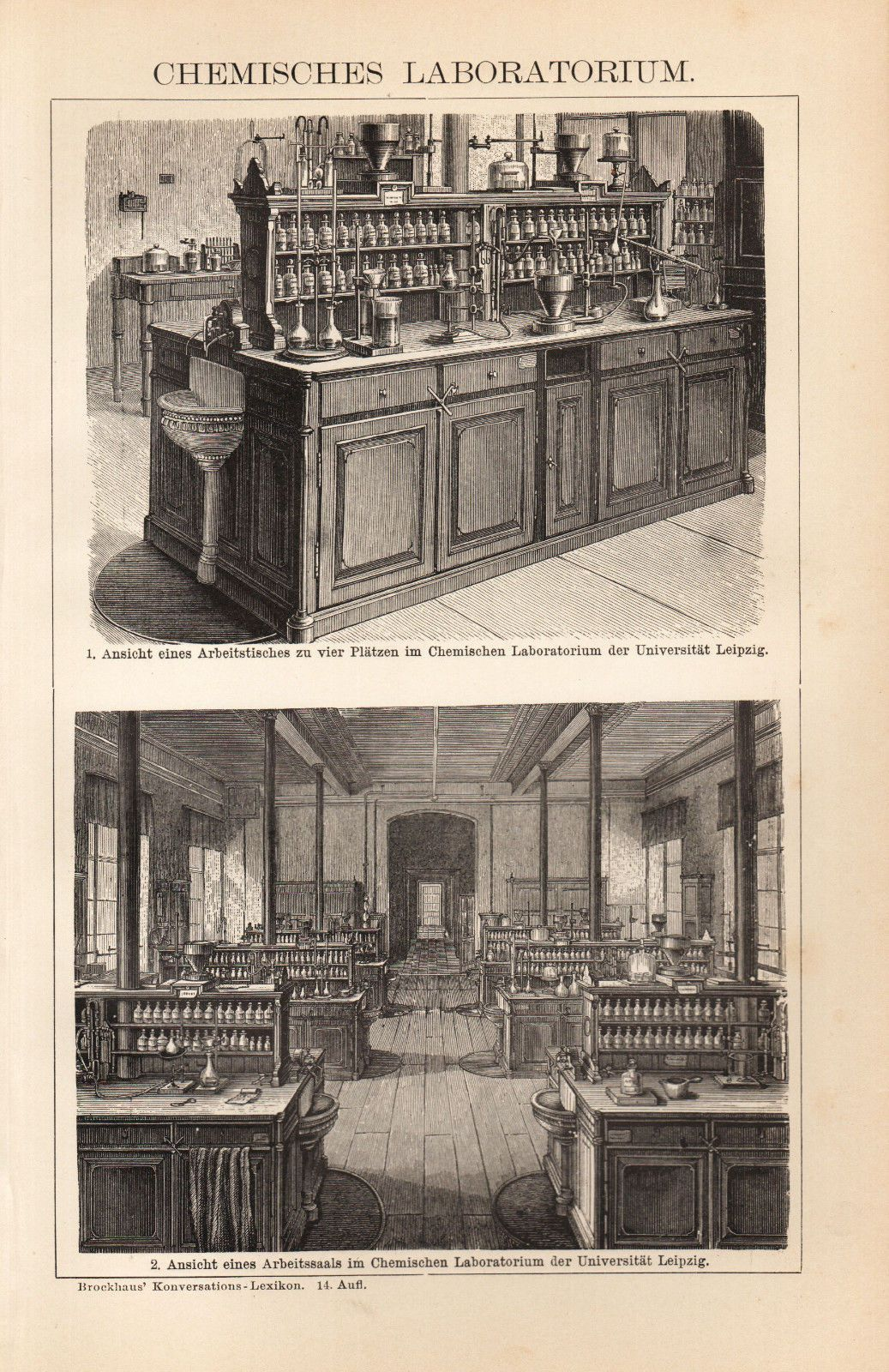 Ca Old Chemical Laboratory Antique Print