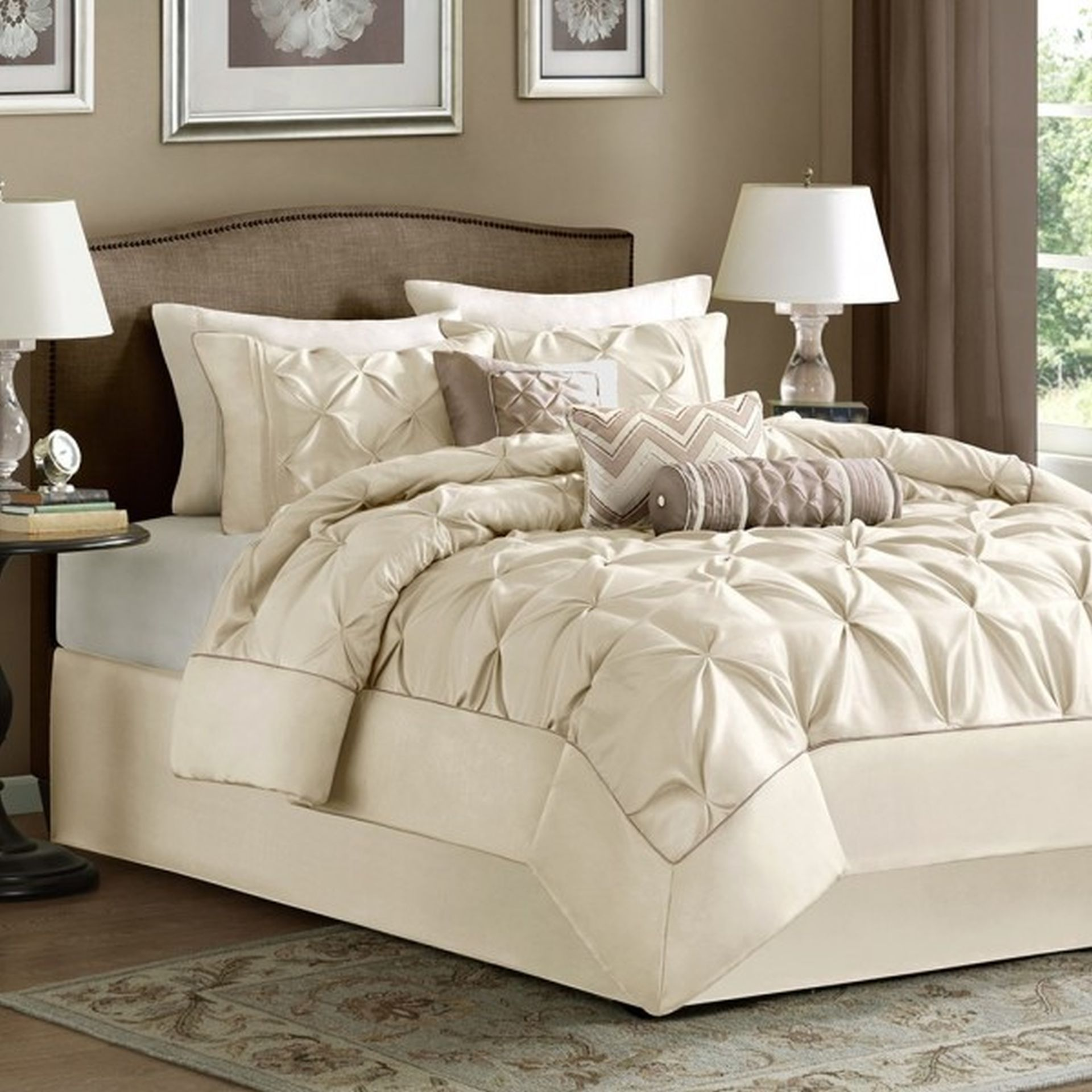 piece king comforter ivory twin synergy set bedding