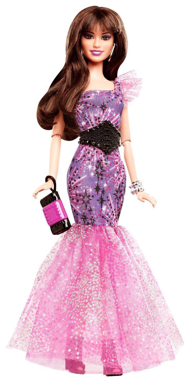 Amazon.com: Barbie Fashionistas in The Spotlight Gown Doll, Purple ...