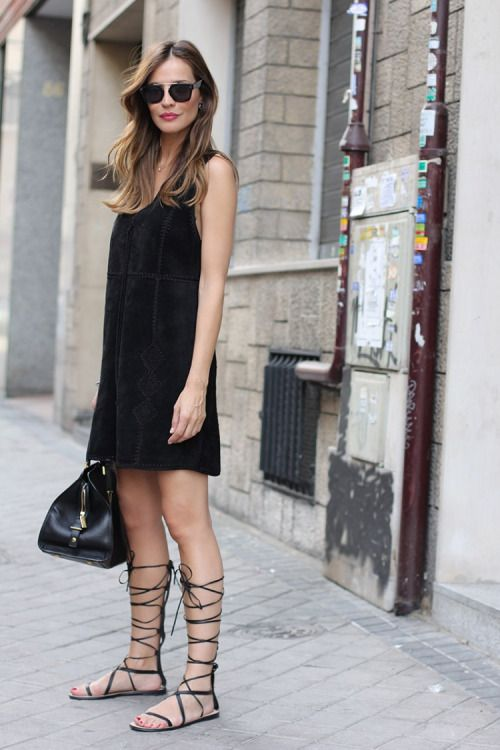 Justthedesign Silvia Garcia In A Gorgeous Black Suede Mini Dress