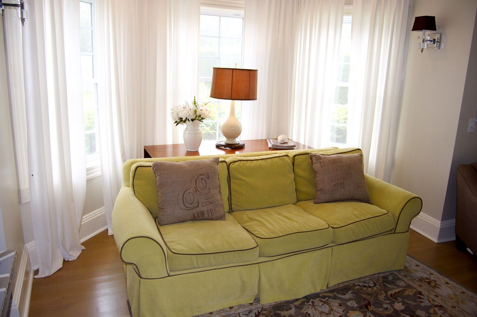 Bay Window Curtain Rod  For The Home  Pinterest  Bay Window Prepossessing Living Room Bay Window Designs Decorating Inspiration