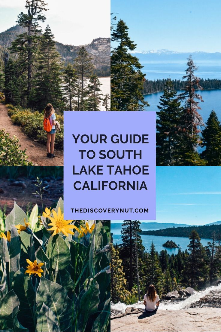 South Lake Tahoe is a true adventure paradise with hiking, kayaking and camping. It's also one of the best day trips from San Francisco! #laketahoe #californiatravel #westcoast #adventuretravel #northamericatravel