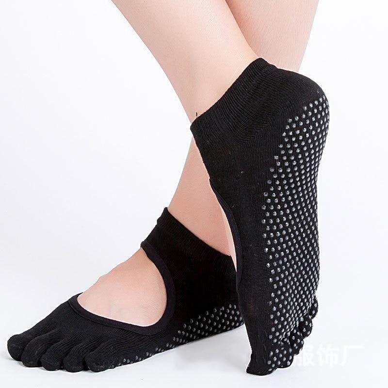 Women Yoga Socks Anti-slip Backless 5