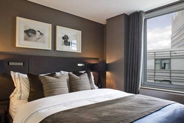 Inrichting Slaapkamer Taupe : Taupeslaapkamer slaapkamer modern interiors