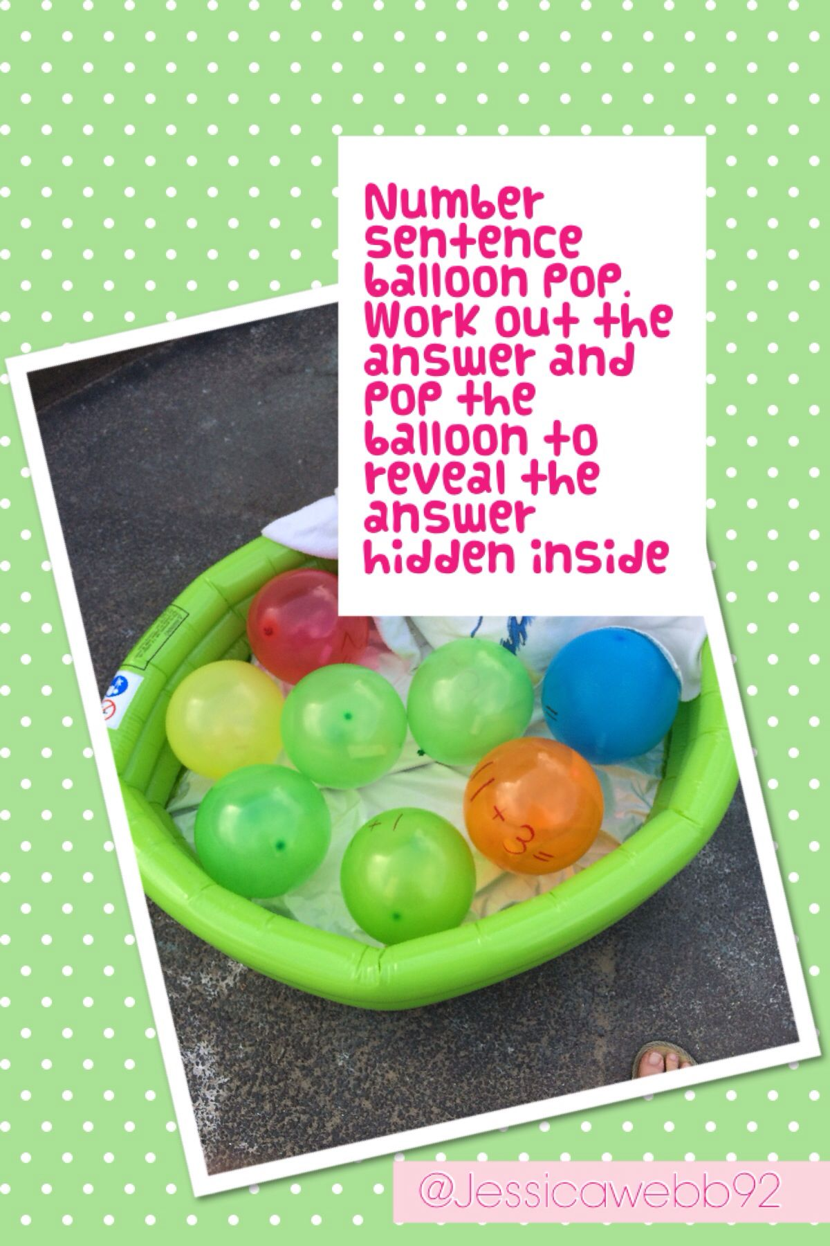Number Sentence Balloon Pop