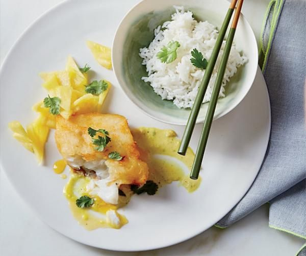Cod Tempura with Cape Malay Curry Sauce Recipe | http://aol.it/1u2xsW5