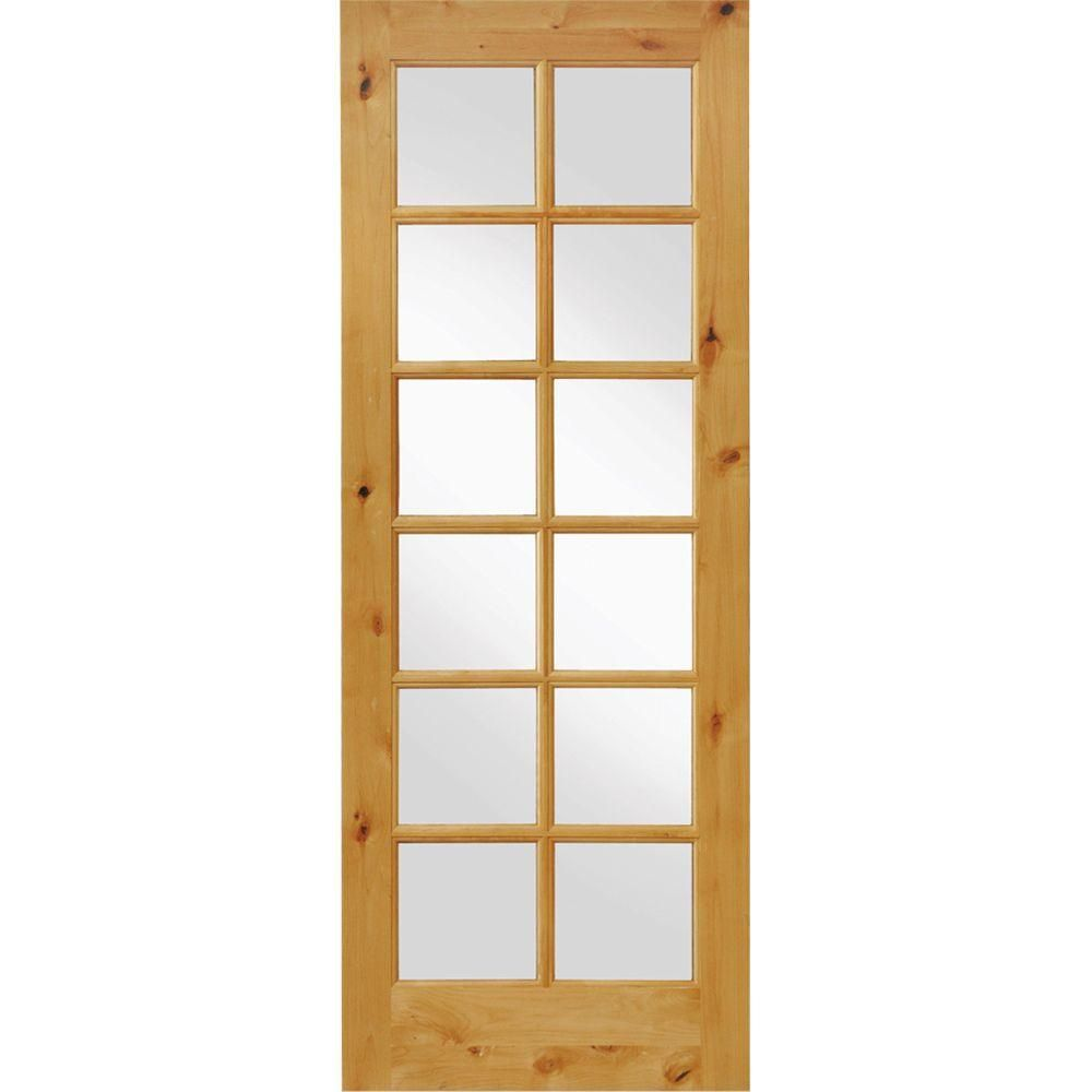Krosswood Doors 24 In X 96 In Knotty Alder 12 Lite Low E Insulated Clear Glass Solid Right Hand Wood Single Prehung Interior Door Ka 412 20 80 134 Rh Prehung Interior Doors Glass French Doors Wood Doors