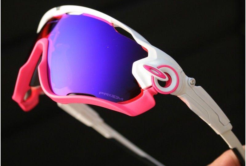 56ac0f7709 Jawbreaker custom Polished White Pink Prizm Trail | Oakley / 100 ...