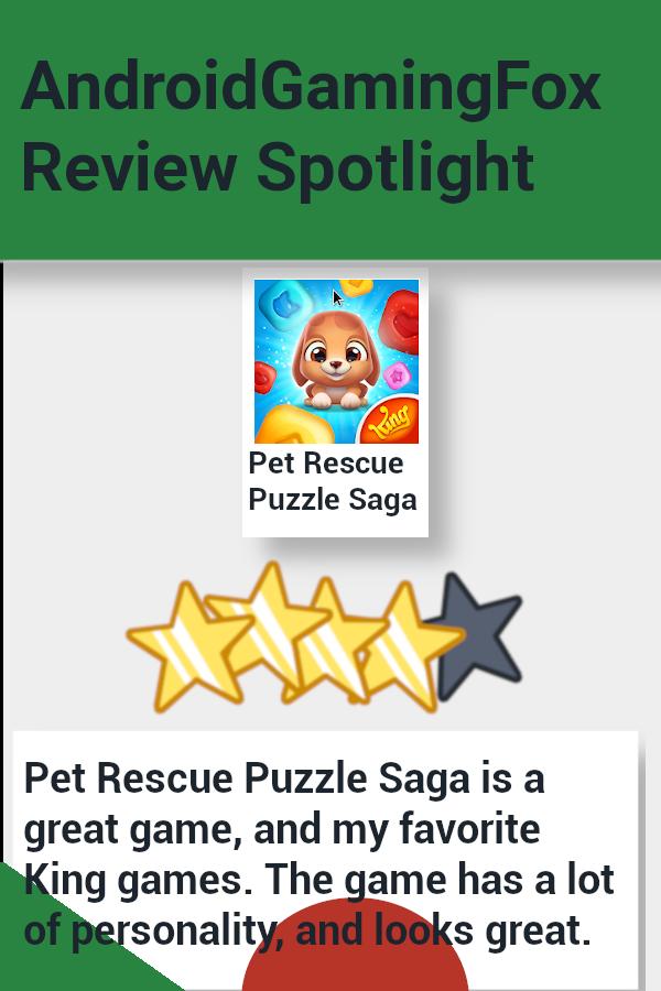 Pet Rescue Puzzle Saga Review Spotlight Animal rescue
