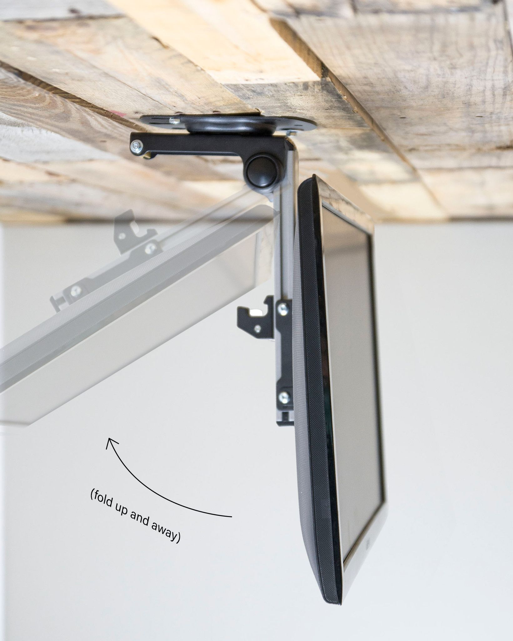 Folding Flip Down Pitched Roof Ceiling Mount For Lcd Flat Tv Monitors Upto 37