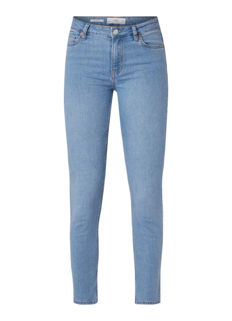 MANGO MANGO Sculpt mid waist skinny fit jeans met lichte