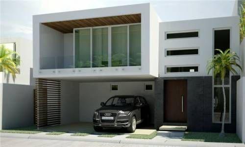 Esta fachada es ideal para terrenos de 9 a 12 metros de for Fachadas de casas de 6 metros de frente modernas