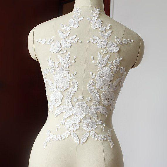 Lace Applique Embroidered Bodice Lace Applique Lace Bodice