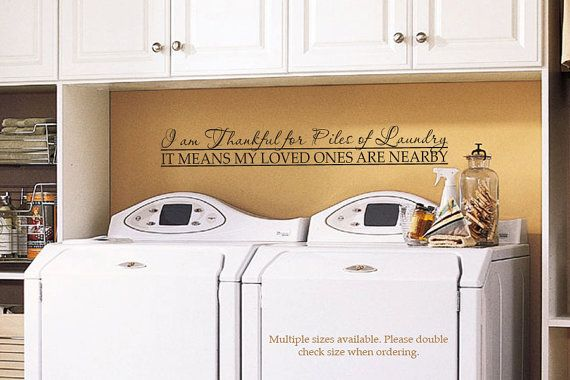 laundry room decal wall decor vinyl decal wall art 36"