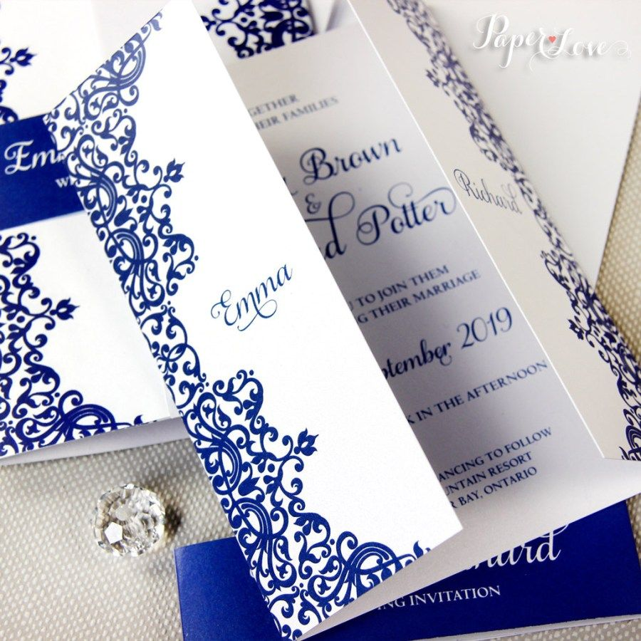 25 Wonderful Picture Of Royal Blue Wedding Invitations Denchaihosp Com Blue Wedding Invitations Royal Wedding Invitation Royal Blue Wedding Invitations